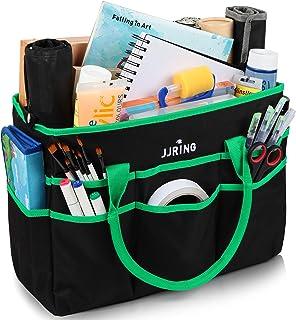 حقيبة حمل كبيرة متعددة الوظائف من النايلون 600D مع حقيبة 16 جيبًا للفنون أو الحرف اليدوية أو الخياطة أو المكياج أو المدرسة...