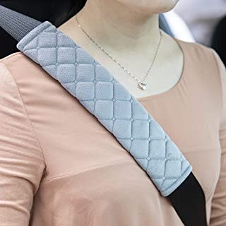 ROYAGO 2Pcs Car Seat Belt Pad Cover, 2-Pack Black Soft Car Safety Seat Belt Strap Shoulder Pad for Adults and Children,Helps Protect Your Neck and Shoulder (Gray)