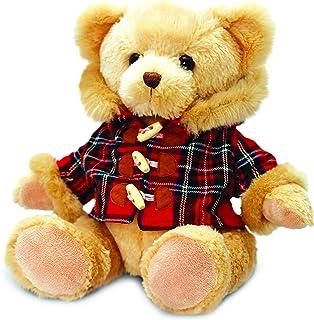 Keel Hamish Bear with Tartan Coat Stuffed Toy - 25 cm