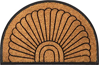 60x90 cm Half Round Semi Circle Rubber and Coir Doormat Welcome Entry Mat Kochi