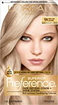 L'OrÃal Paris Superior Preference Fade-Defying + Shine Permanent Hair Color, 9A Light Ash Blonde, 1 kit Hair Dye 1 Count