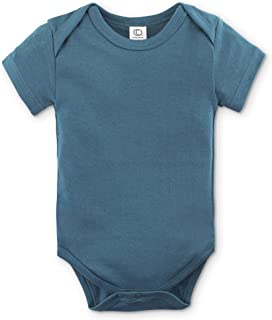 Unisex Baby Organic Cotton Bodysuit - Short Sleeve Infant Onesie
