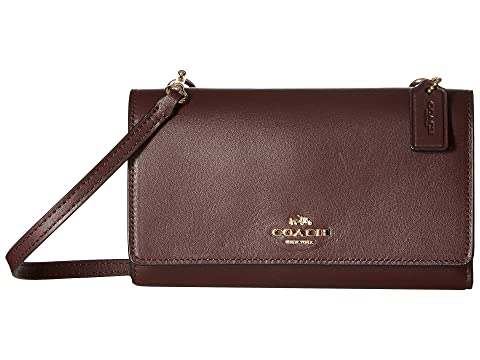 COACH Smooth Leather Phone Crossbody