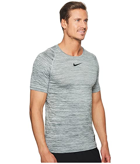 corta Vintage manga Grey de Green Camiseta jaspeada Nike entrenamiento Black de Cool Pro wFIxqUB86