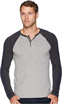 Long Sleeve Color Block Henley