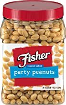 FISHER Snack Party Peanuts, 36 oz per Tub (Pack of 6)