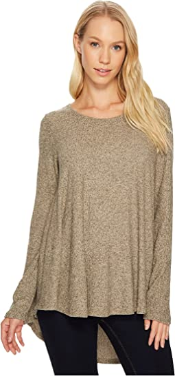 Nally & Millie - Brushed Rib Pleat Back Long Sleeve Tunic