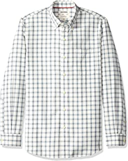 Amazon Brand - Goodthreads Men's Slim-Fit Long-Sleeve Plaid Chambray Shirt