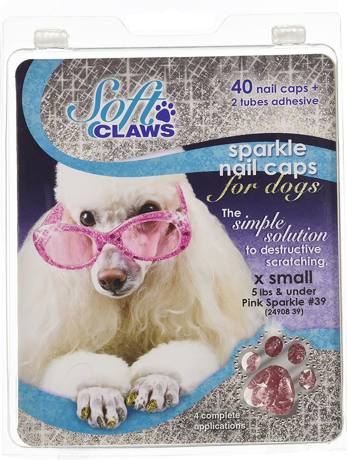 Canine Soft Claws Nail Caps XSmall Pink