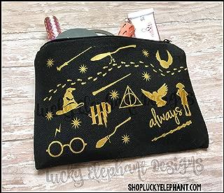 Harry Potter Makeup Bag - Harry Potter Pencil Bag - Harry Potter Cosmetics Bag