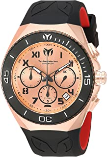 Men's 'Manta' Quartz Stainless Steel and Silicone Casual Watch