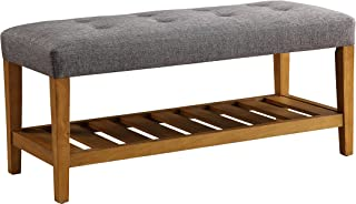 ACME Furniture bench, One Size, Gray & Oak