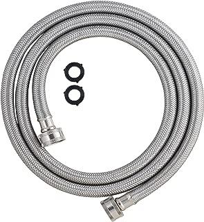 LDR Industries 504 1225 Washing Machine High Pressure Reinforced Inlet Hose, 6', Stainless Steel