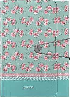 Herlitz 11306016 多层文件袋 Ladylike Roses,A4,12 个封闭隔层,外带弹性松紧带和纽扣 1 Mappe 多种颜色
