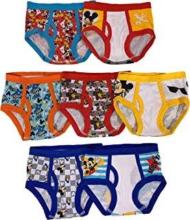Boys' Toddler Mickey Mouse 3-Pack or 7-Pack Briefs 18M, 2/3T, 4T