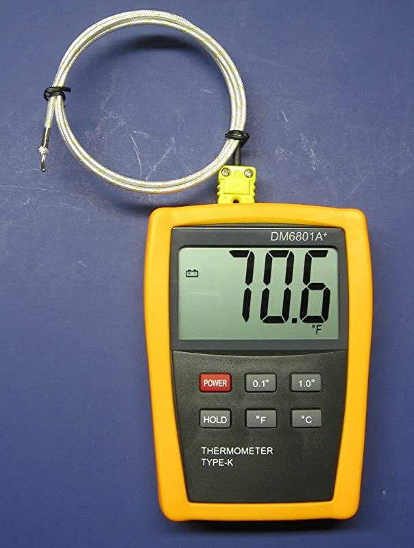 K Type Scientific Digital Thermometer DM6801 With High Temperature Thermocouple PK 1000