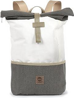 Rucksack unisex 360 Grad Rucksack aus Segeltuch/Tweed Lotse unisex mit Gurt beige