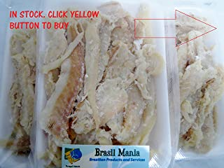 Bacalhau Bacalao Dry Salted Cod Pieces, No Bone No Skin 3-pack