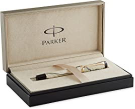 PARKER Duofold International Pearl and Black, Fountain Pen with Fine solid gold nib (S0767460)