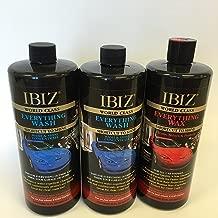 IBIZ (2 Everything Wash and (1) Everything Wax 3 Bottle Combo Pack