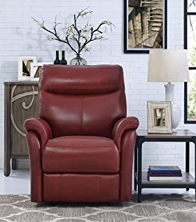 red top grain leather recliner