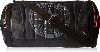 Gear 22 ltr Black and Orange Gym Bag (DUFPRO2000106)