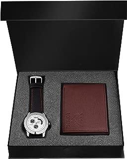 LORENZ Combo of Brown Men's Wallet & White Dial Watch