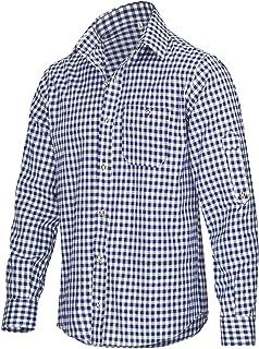 TR Martha Camisa para hombre de manga larga a cuadros, para Oktoberfest, adecuada para pantalones de piel, disponible en 4...