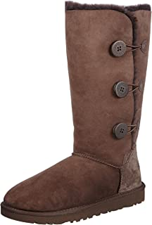 UGG Womens Bailey Button Triplet Boot Chocolate Size 10