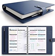 [MSRP $50 - Sale] LUX PRO Productivity Planner – Best A5 Undated Diary/Organizer for 2019 & 2020 - Daily Schedule & Reflection Journal - Manage Time/Projects/Finances - Goals & Gratitude (Navy Blue)