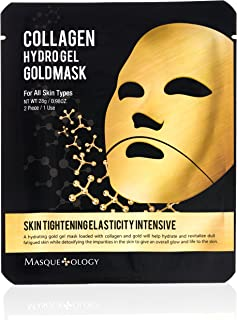 Best Masqueology - Gold Collagen Hydro-Gel Mask | Skin Tightening, Firming, and Anti-Aging Skincare Face Mask (1 Pack) Review