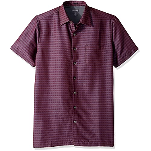 1d64f9f9 Van Heusen Men's Size Tall Slim Short Sleeve Button Down Rayon Poly Shirt