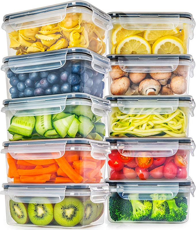 Food Storage Containers With Lids 10 Pack 25 Ounce Food Containers With Lids Plastic Containers With Lids Leak Proof Lunch Containers Plastic Storage Containers With Lids Meal Prep Containers