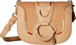 Hana Small Suede & Leather Crossbody with Piping