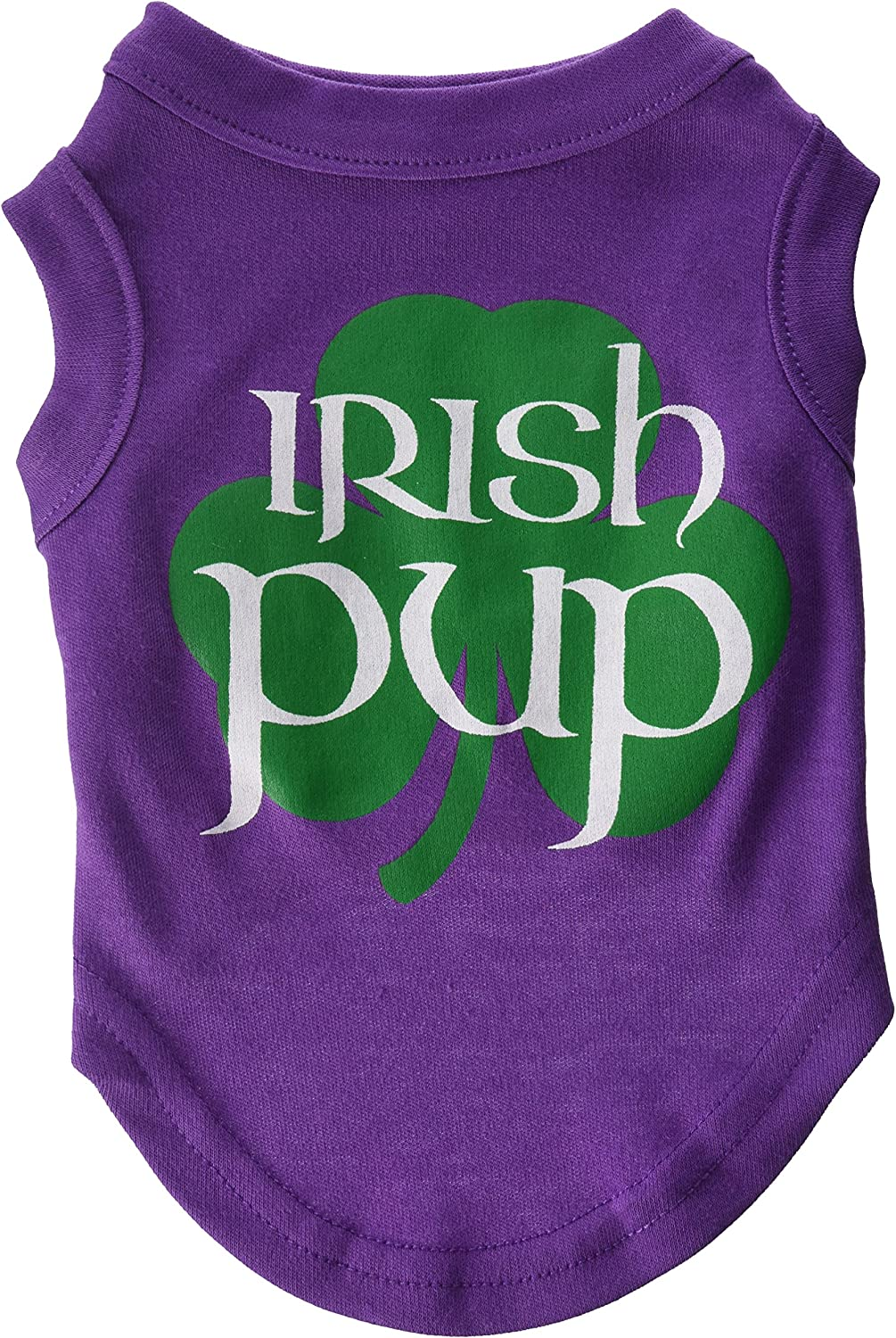 Mirage Pet Products 10Inch Irish Pup Screen Print Shirt for Pets, Small, Purple