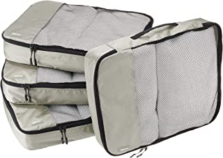 AmazonBasics 4-Piece Packing Cube Set - Large, Gray