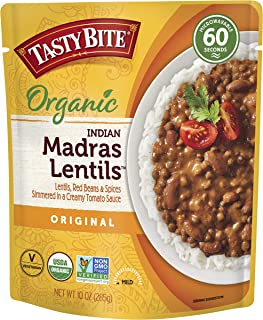 Tasty Bite Indian Madras Lentils, Microwaveable Ready to Eat Entrée, 10 Ounce (Pack of 6)