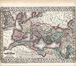 VintPrint Map Poster - Map of The Roman Empire - 24