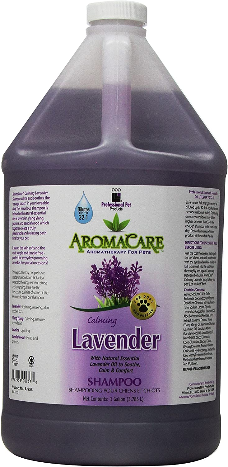 PPP AromaCare Calming Lavender 1-Gallon Cheap super special price Shampoo Dog Spasm price