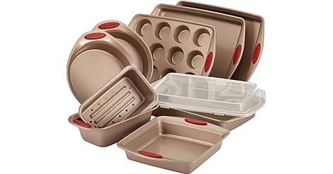 Rachael Ray 10-Piece Cucina Nonstick Bakeware Set only $55.99