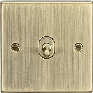 Knightsbridge CSTOG12AB Square Edge Antique Brass 10A 1G Intermediate Toggle Switch