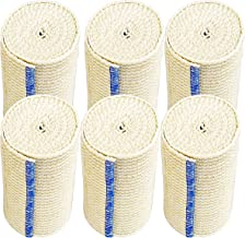"""NexSkin Elastic Compression Wrap (4"""" Wide, 6 Pack) with Hook and Loop Fasteners at Both Ends 