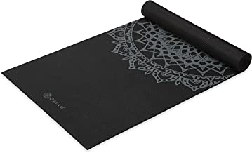 Gaiam Yoga Mat - Premium 5mm Print Thick Non Slip Exercise & Fitness Mat for All Types of Yoga, Pilates & Floor Workouts (...