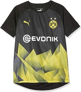 PUMA Kid's BVB Int'l Stadium Jersey Jr with Evonik Logo Black-Cyber Yellow