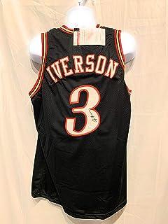 bc522d90b Allen Iverson Philadelphia 76ers Autograph Signed Black Custom Jersey JSA  Witnessed Certified