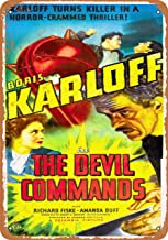 Wall-Color 9 x 12 Metal Sign - 1941 The Devil Commands Movie - Vintage Look