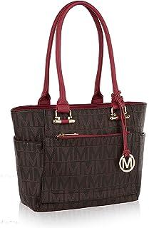 Mia K Collection Shoulder Handbag for Women: Vegan Leather Satchel-Tote Bag, Top-Handle..