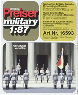 Preiser 16593 Former East German Army (NVA) Post 1945 Package(21) HO Scale Military Model Figure