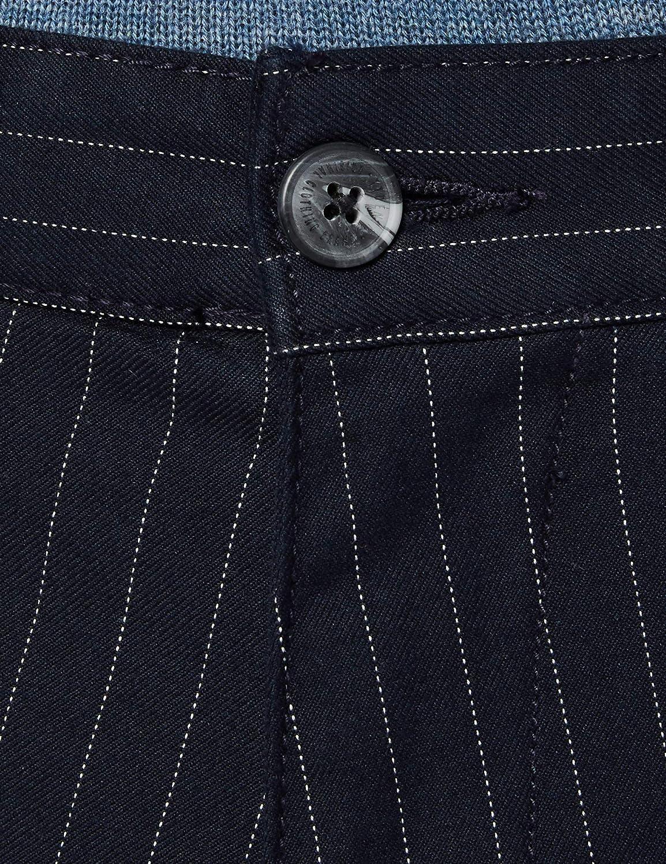 Tom Tailor Denim Struktur Muster Pantalon Homme 21443 - Navy Pinstripe