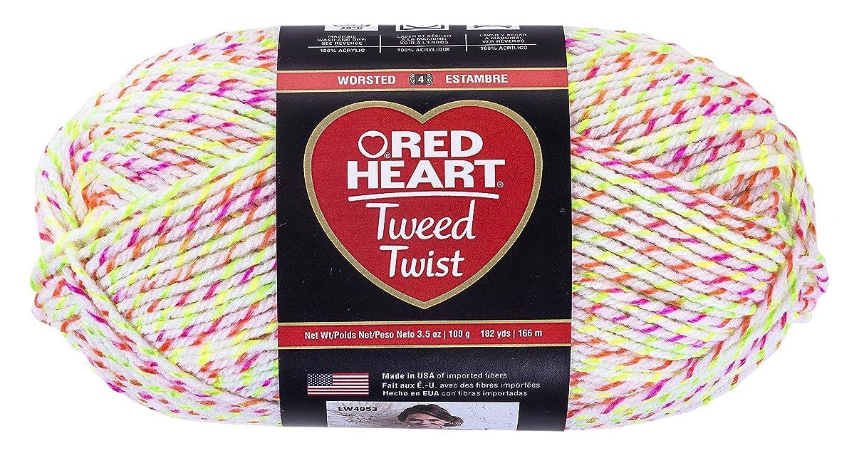Red Heart Tweed Twist Yarn, Neon White
